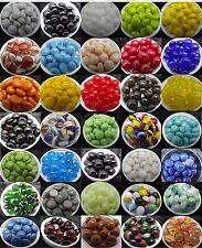 "1/2"" Glass MEDIUM COLORADO RIVER ROCK 25 pcs Pebbles Dots Spectrum System 96 COE"
