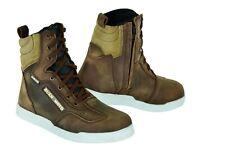 Motorbike Motorcycle Waterproof Boots Sneakers Leather Shoes  Brown& Beige