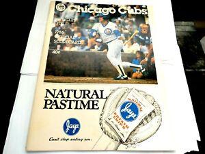Chicago Cubs 1986 Official Scorecard