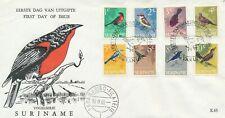 Suriname - FDC - E43 (Vogels 1966) -  Blanco / Open klep