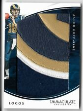 JARED GOFF 2016 PANINI IMMACULATE COLLECTION ROOKIE LOGOS PATCH CARD RC #10/20!