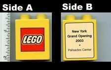 x 1 Duplo, Brick 1 x 2 x 2 with The Lego Store New York, Palisades Center promo