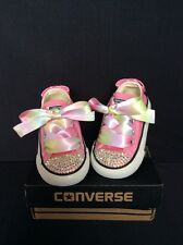 Crystal Custom Converse Rose Bling Baby/Toddler UK enfant taille 3