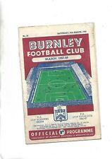 More details for 15/3/58  very rare league  burnley v manchester utd