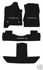 GMC Yukon XL  4PC FLOOR MAT SET Black SILVER LOGO 2015-2016 GMC