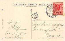 """C7005 DODECANESO (GRECIA) ANN """"UFFICIO POSTALE TELEGRAFICO COO 22/9/1930"""" SU 20c"""