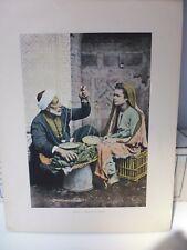 Egypte : Gravure 19° in folio couleur / Marchand de bananes