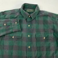 Polo Country Ralph Lauren Button Up Shirt Mens Large Long Sleeve Green Gray