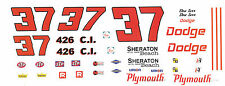 #37 Don Tarr Sheraton Hotel Miami Beach 1/32nd Scale Slot Car Waterslide Decals
