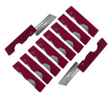 Derma Safe Folding Utility Razor Knife 10 pack Red Ultralight Survival Tool Kit