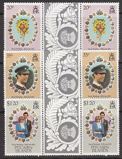1981 Pitcairn Island Royal Wedding Charles & Diana - MUH Gutter Pairs