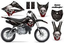 KLX110 Kawasaki Graphic Kit AMR Racing Bike Decal Sticker Kawi Part 00-13 BONES