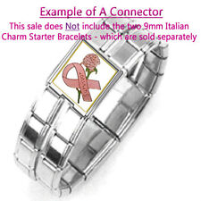 ITALIAN CHARM BRACELET 9mm CONNECTOR BREAST CANCER - 1 x BC006 Single Mega Link