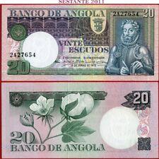 (com)  ANGOLA - 20 ESCUDOS 10.6. 1973 - Prefix 2A - P 104 -  UNC