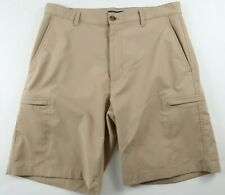 Chaps Golf Mens Stretch Polyester Activewear Khaki Chino Dress Shorts Size 32