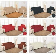 Slip Sofa Chair Cover QUILTED Jacquard Pet Protector 1,2,3 Seater Sofa Throw