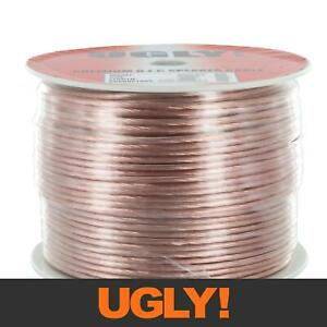 100m Ugly Speaker Cable OFC 42 x 0.17mm Strands Figure 8 17 AWG Spool Hi-Fi