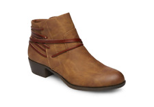 NEW MADDEN GIRL BECOME COGNAC ANKLE BOOTIES BOOTS WOMENS 7