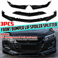 Front Bumper Lip Splitter Gloss Black For Honda Accord 10th Gen Sport 2018-2020