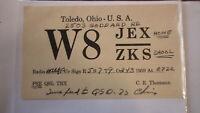 OLD VINTAGE QSL HAM RADIO CARD POSTCARD, TOLEDO OHIO 1959