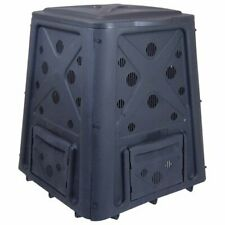Redmon Green Culture 65 Gal Composter Black Rugged Weather-Resistant Plastic
