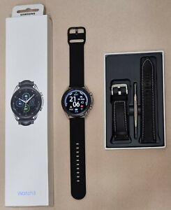 Samsung Galaxy Watch 3 SM-R840 silver 45mm  Edelstahl wie neu + zusätzl. Armband