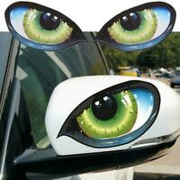 12cm*7.5cm 1Pair 3D Mysterious Cat Eyes Car Sticker Evil Window Mirror Stic H1E2