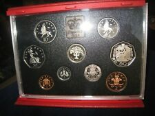 1992 UNITED KINGDOM ROYAL MINT 9 COIN PROOF SET WITH EEC 50 PENCE.