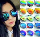 Fashion Unisex Vintage Retro Women Men Glasses Aviator Mirror Lens UV Sunglasses