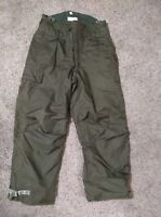 US Army Issue Waterproof Pants Bibs Green Gore-Tex Material Men's Size M - VGC