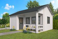 70mm Ferienhaus ISO + Schlafboden 600x510cm Gartenhaus Blockhaus Holzhaus Holz