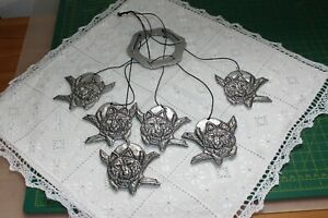 C.1993 Wolf Wind Chimes Made of Statesmetal by Carson Industries USA (Mint)