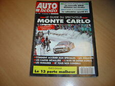Auto hebdo N°761BMW 325i / R21 2l Turbo Quadra / 190 E 2.6 Sportline.Monté-Carlo