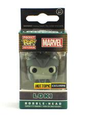 Funko Pocket Pop Loki Keychain Black & White Hot Topic Exclusive Bobble-Head New