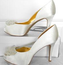 NINE WEST (CASSEDI SATIN WHITE) WOMENS SIZE 9.5 BRAND NEW!!!!