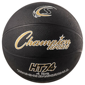 Champion Sports Weighted Basketball Trainer, 4 Pounds, Black