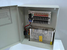 CCTV Power Supply Box Distribution Unit 9 Ports Output PTC Fuse 12V DC 10Amp ,