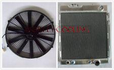 """3row alloy radiator & 16"""" fan for Ford MUSTANG V8 289 302 WINDSOR 1964 1965 1966"""