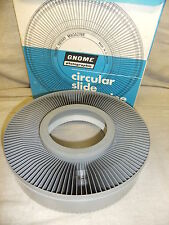 Slide projector slide carousel GNOME +  box NO SPILL TYPE 122 slide capacity