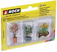 14014 Noch HO, Zierpflanzen in Blumenkübeln, Laser-Cut minis, Modelleisenbahn