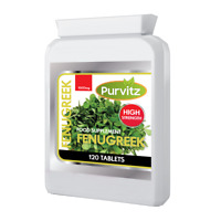 Fenugreek 1000mg Tablets Purvitz Bottle None Capsules High Strength Fast Working