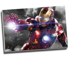 "THE AVENGERS IRON MAN SUPERHERO Canvas Print Wall Art 30x20"" A1"