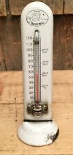 RARE Antique Porcelain QUICK MEAL Egg Thermometer Farm Barn Country Store Sign