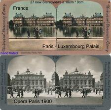 27 Stereoviews di Parigi, Lot 4, France Francia 1890 - 1910 immagini Stéréo