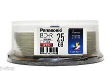25 Blu Ray Panasonic BD-R 4X Rohlinge 25GB Printable Japan Original-MID-Code