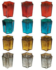 3Pcs Gold Red Silver Teal Mercury Glass Tea Light Candle Holder Votive Christmas