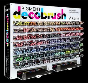 KARIN PIGMENT DecoBrush - Acryllic Ink Marker 84 Farben auch in Weiß