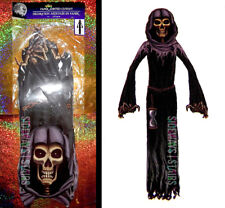 5' GRIM REAPER HALLOWEEN DECORATION jointed cutout death angel spooky horror 60""