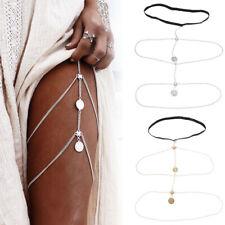 Body Bikini Beach Harness Body Chain Gold New Sexy Women Thigh Leg Chain Jewelry