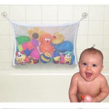 Toy Tidy Storage Bag Bathroom Organizer Net Pouch White Kid Baby Bath Shower NEW